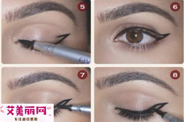 如何画双眼皮上扬眼线 教你眼线如何画出大眼睛